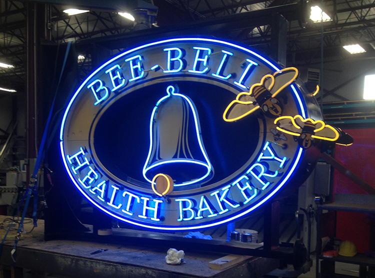 Bee Bell Bakery Sign Restoration