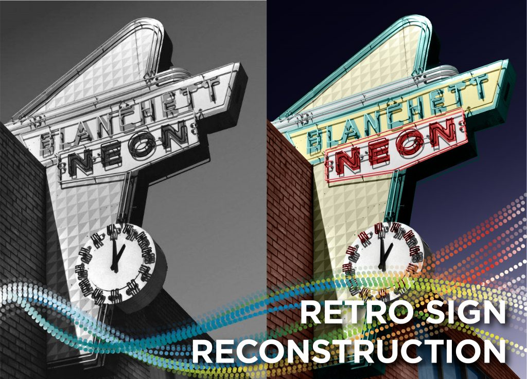 Blanchett Neon Retro Sign Reconstruction